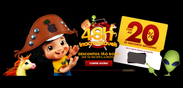 Cupons Casas Bahia 20 OFF 48h 2016-06