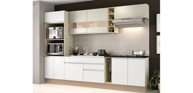 Cozinha Completa Vicenza Tirol e Branco