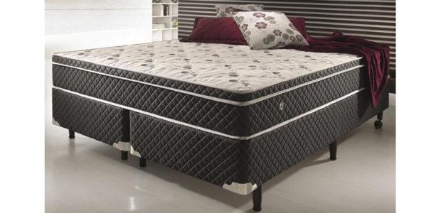Conjunto cama box de casal queen size soft confort preto sistema antiácaro antifungo e antialérgico Mobly