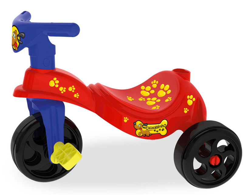 Triciclo Cachorrinho Vermelho Xalingo
