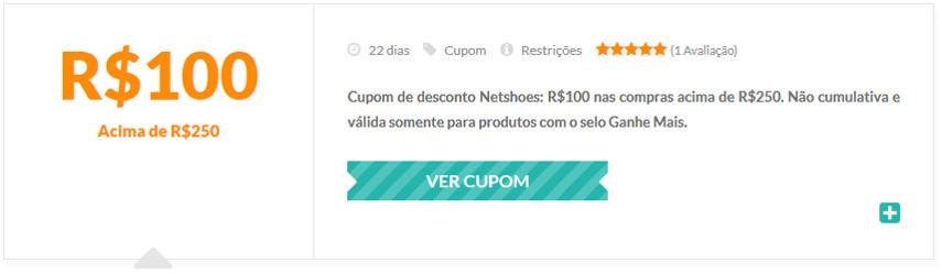 Cupom de Desconto Netshoes R$100 OFF