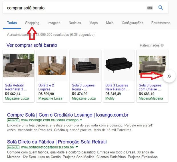 comprar sofá barato pela internet