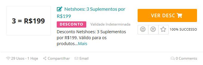 desconto netshoes