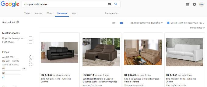 onde comprar sofá barato