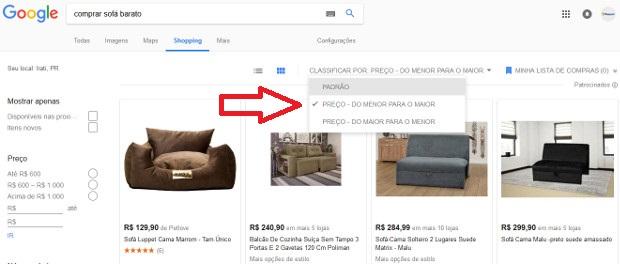 quero comprar sofá barato