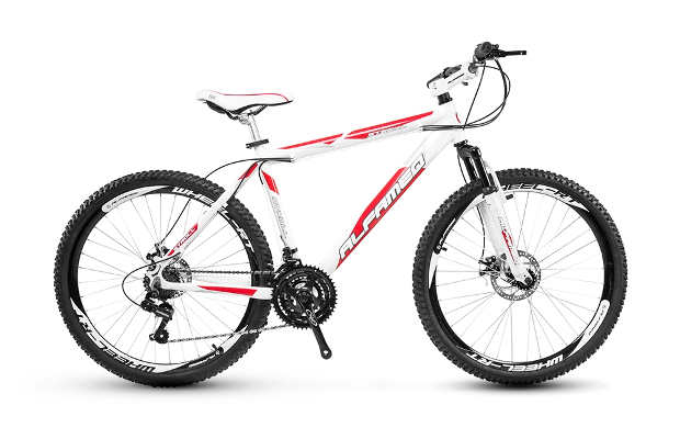 Netshoes Bicicleta Alfameq Stroll Aro 26 Freio À Disco 21 Marchas - Branco e Vermelho