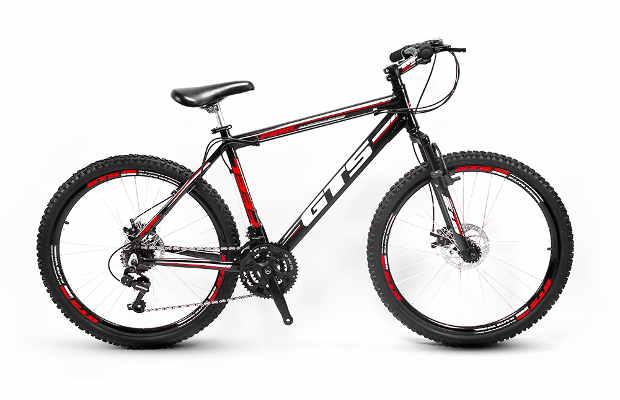 Netshoes Bicicleta Gts Feel Aro 26 Freio À Disco 21 Marchas - Preto