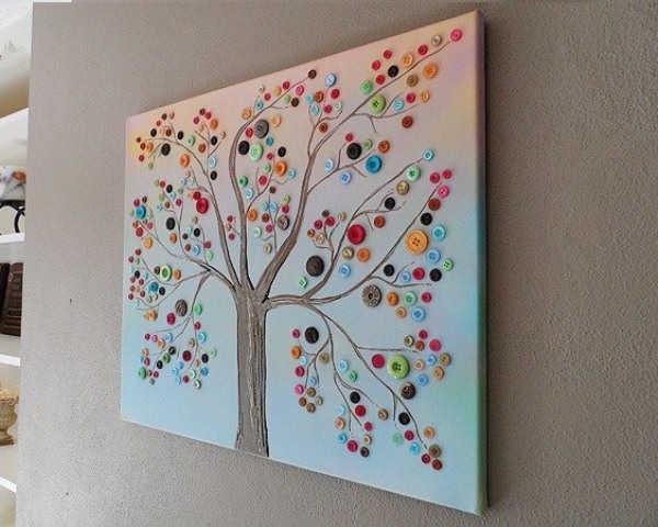 quadro feito com botões