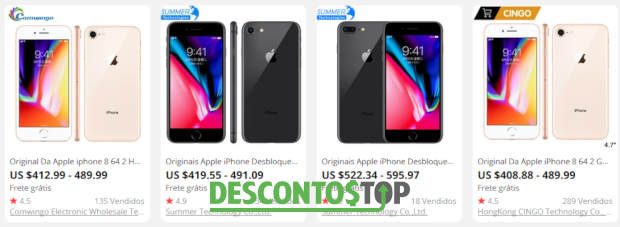 iphones a venda no AliExpress