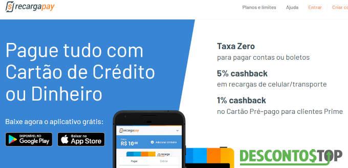 cupom recarga pay