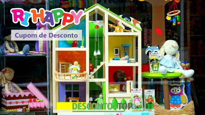 casinha de brinquedo ilustando cupom de desconto Ri Happi