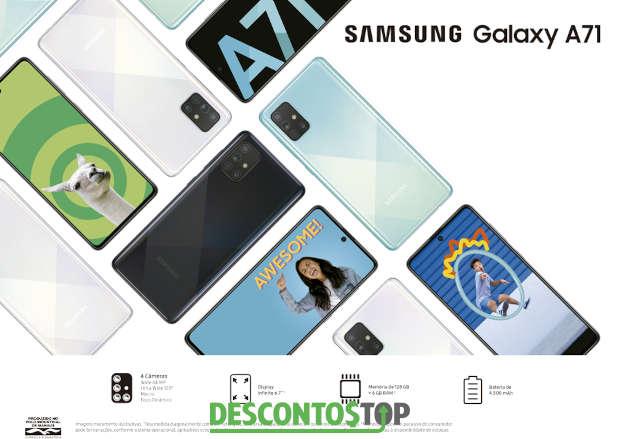 montagem com várias fotos do celular samsung a71