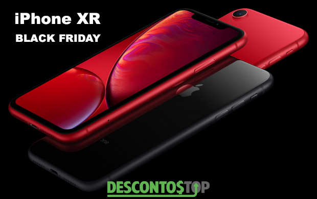 iphone xr vermelho e preto na diagonal