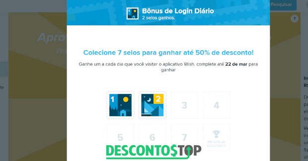 captura de tela do site de compra Wish