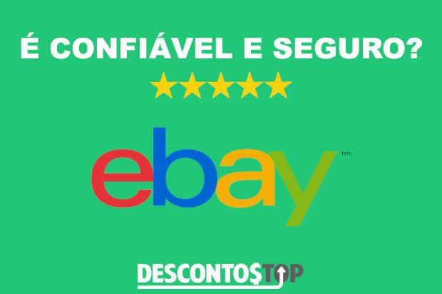 logo do ebay com frase é confiável e seguro